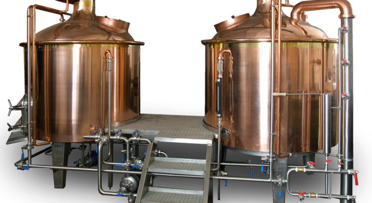 10 hl copper clad 2 vessel brewhouse