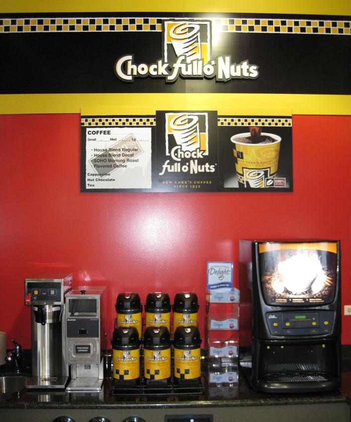 Chock Full o'Nuts Setup
