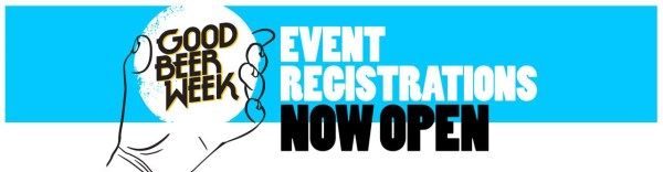 Good Beer Week Event Registrations Now Open banner