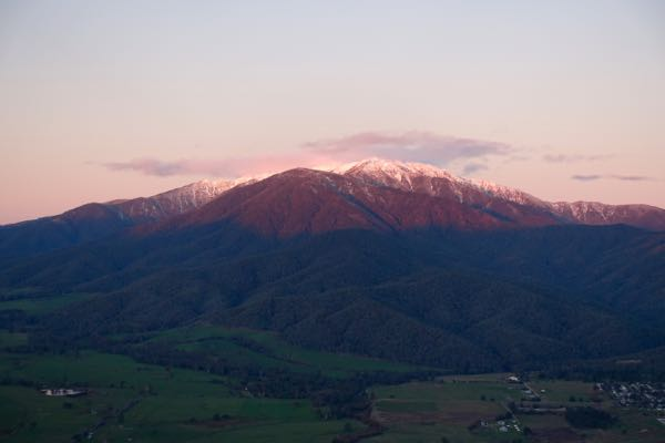 Mount Bogong, as viewed from Tawonga Gap, en route from Sweetwater to Bright