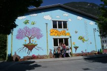 Graffitiprojekt am Nebengebäude