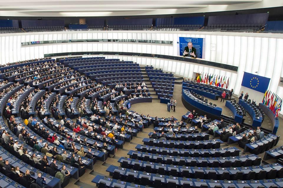 5E beim Euroscola-Tag in Strasbourg