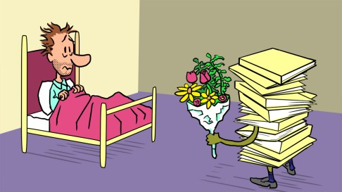 """Spot illustration: """"How to Recover from an Unproductive Day"""""""