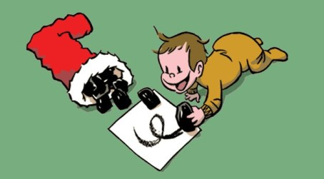 """""""When Santa brings coal, make art"""""""