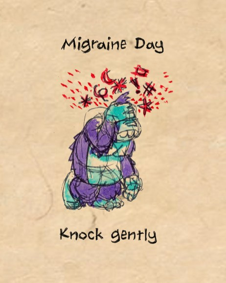 "Spot illustration: ""Migraine Monkey"""
