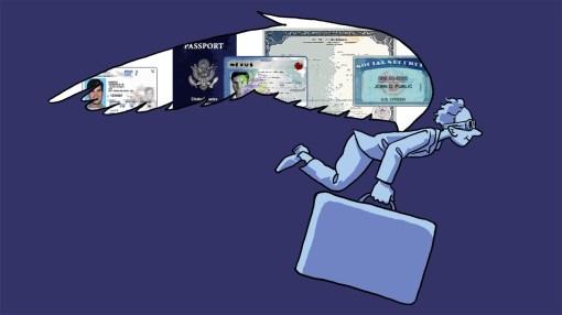 "Spot illustration: ""Travel Documents You Need""Lifehacker.com, 2014"