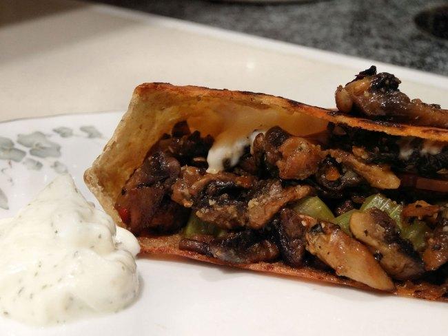 Mozzarella-Mushroom-Bacon Fritter