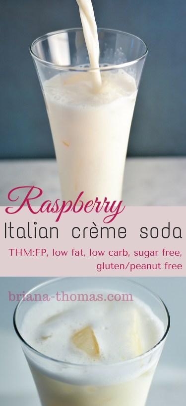 Raspberry Italian Cream Soda