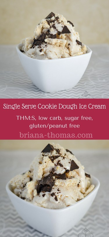 Single Serve Cookie Dough Ice Cream