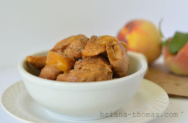 Crockpot Chicken with Peach Sauce