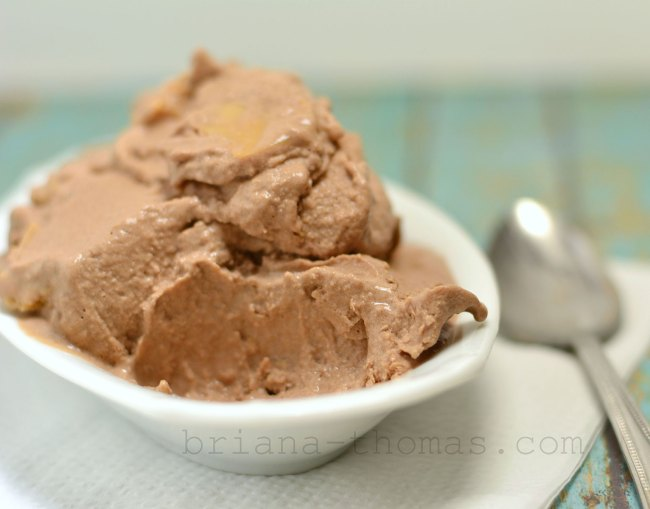 Brownie Batter Ice Cream with Peanut Butter Chips