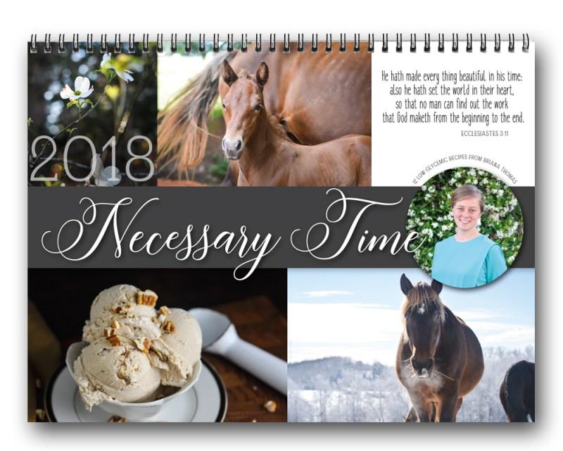 Necessary Time 2018 calendar from www.briana-thomas.com