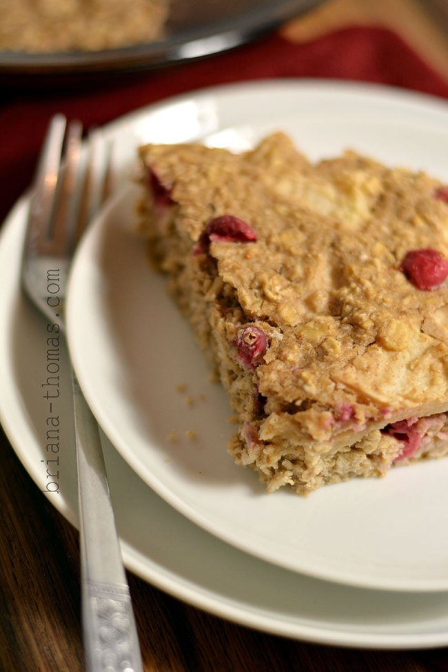 Cran-Apple Oat Cake