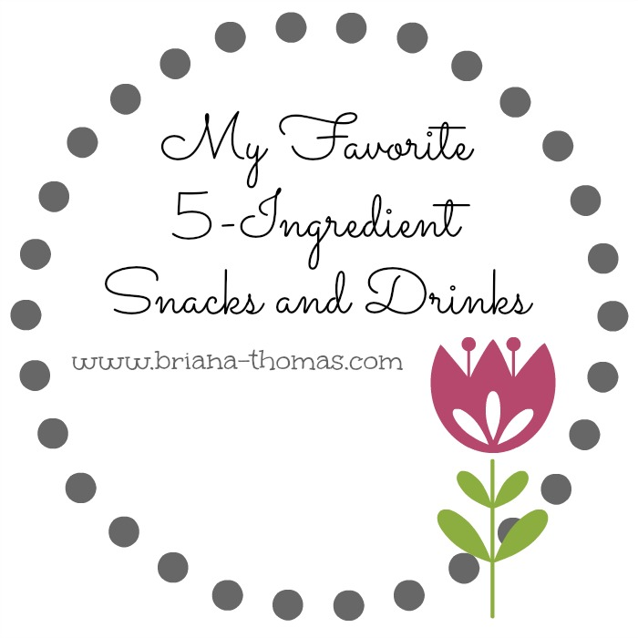 My Favorite 5-Ingredient Snacks and Drinks...a roundup of healthy recipes that are THM approved, low carb and/or low fat, and sugar free.