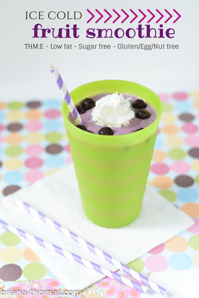 Ice Cold Fruit Smoothie