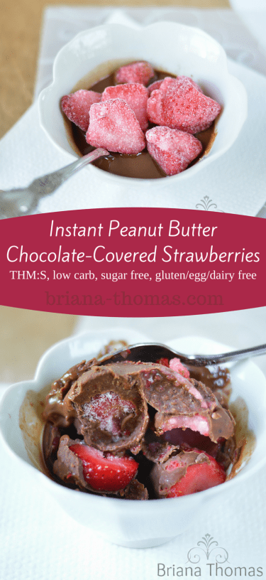 Instant Peanut Butter Chocolate-Covered Strawberries
