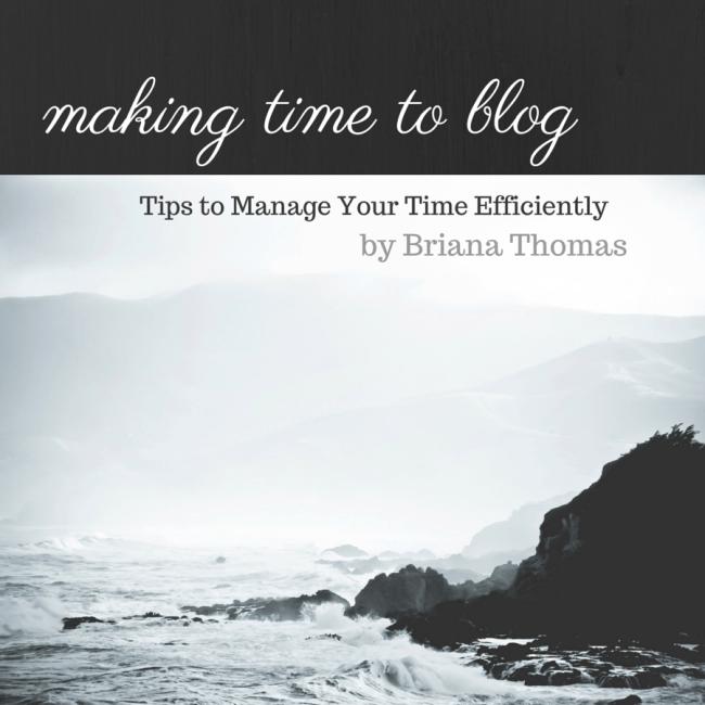 Making Time to Blog