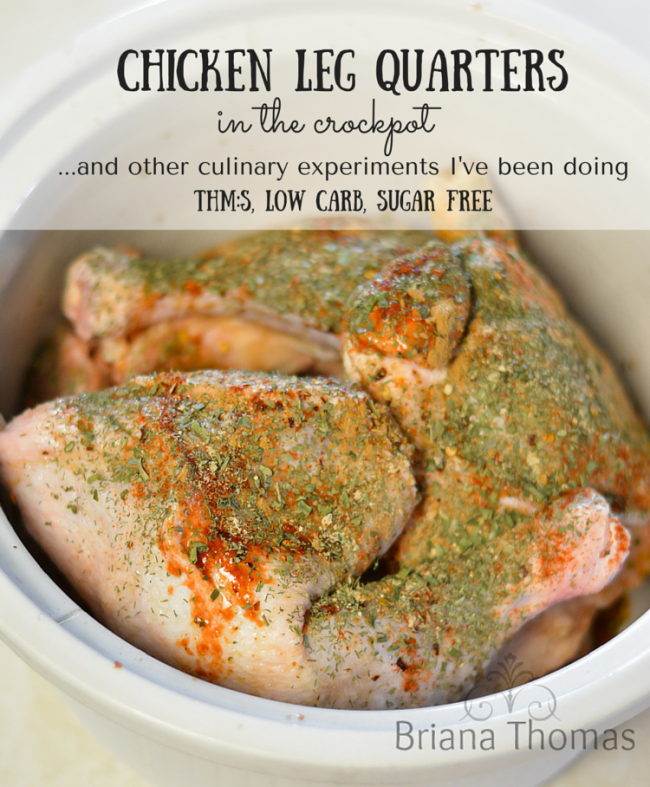 Chicken Leg Quarters in the Crockpot