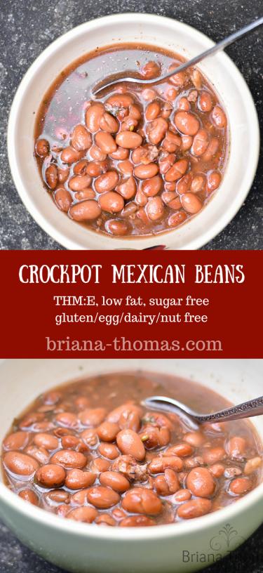 Crockpot Mexican Beans - Briana Thomas