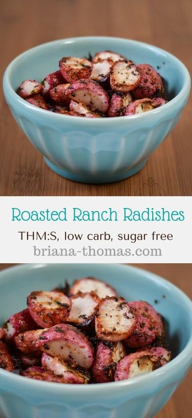 Roasted Ranch Radishes