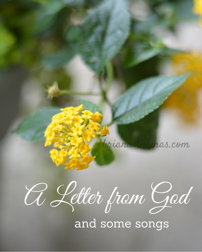 A Letter from God, and Some Songs