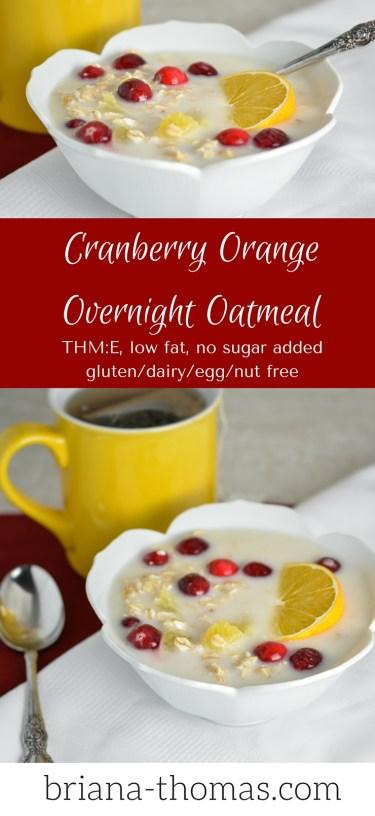 Cranberry Orange Overnight Oatmeal