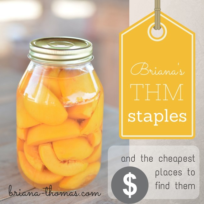Briana's List of THM Staples and Where to Find Them