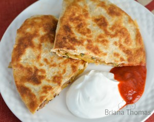 Crispy Chicken Cheese Quesadilla