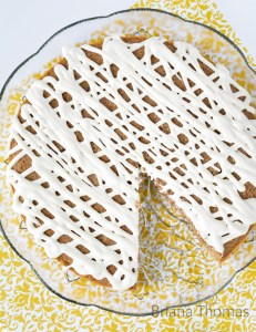 Banana Cake with Cream Cheese Drizzle