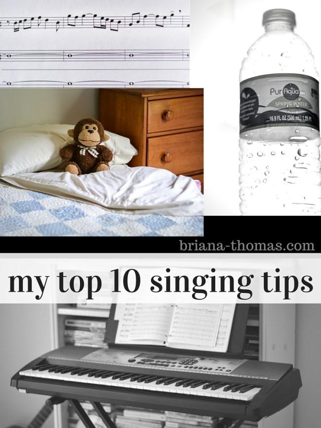 My Top Ten Singing Tips