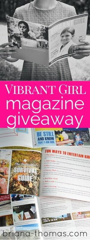 Vibrant Girl Magazine Giveaway