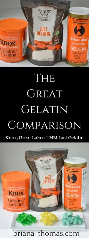 The Great Gelatin Comparison