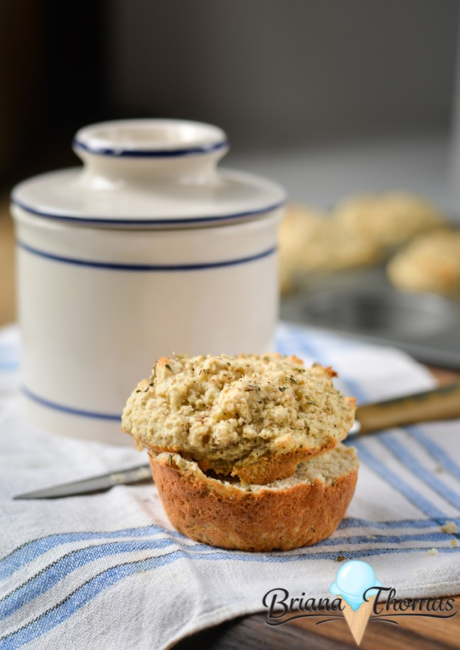 Parmesan Herb Biscuit Muffins (Batch of 6)