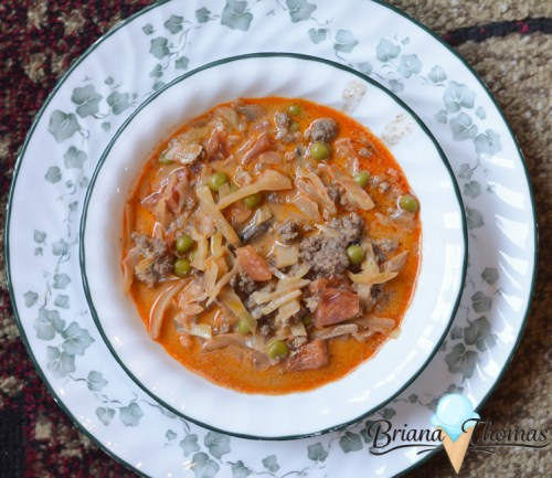 What's on My Plate? (Harvest Soup) - healthy meal ideas, THM-friendly