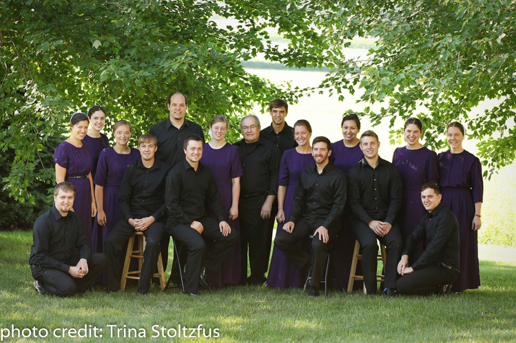 """Laudate Mennonite Ensemble has released its 2016 CD: """"My Spirit Sings""""! LME is a 16-member a cappella choir under the direction of Dr. Ken Nafziger."""