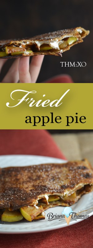 This Fried Apple Pie is a healthier take on the McDonald's classic! THM:XO, sugar free - check the Notes section of the recipe for a THM:E version.