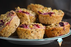 Cranberry Orange Baked Oatmeal Muffins