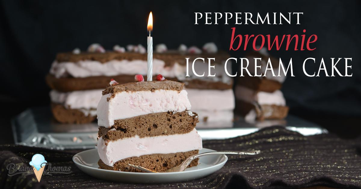 Pleasant Peppermint Brownie Ice Cream Cake And My 21St Birthday Briana Funny Birthday Cards Online Elaedamsfinfo