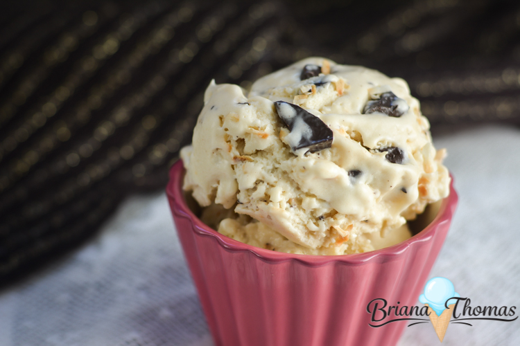 This Brianafinger Ice Cream is my nontraditional take on a Butterfinger ice cream! THM:S, low carb, sugar free, gluten/egg free