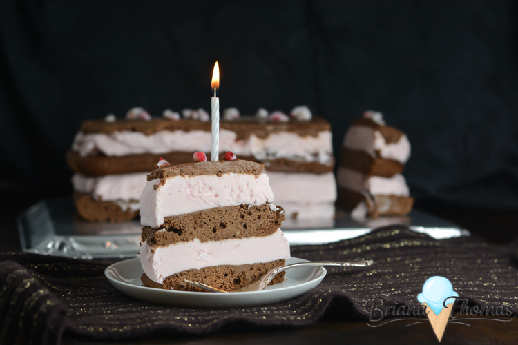 This Peppermint Brownie Ice Cream Cake that I made for my 21st birthday is perfect for Christmas celebrations! THM:S, low carb, sugar free, gluten/nut free