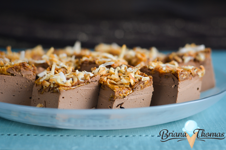 Brianafinger Truffle Fudge is inspired by a Butterfinger candy bar and includes a healthy dose of coconut oil! THM:S, low carb, sugar free, gluten/egg free