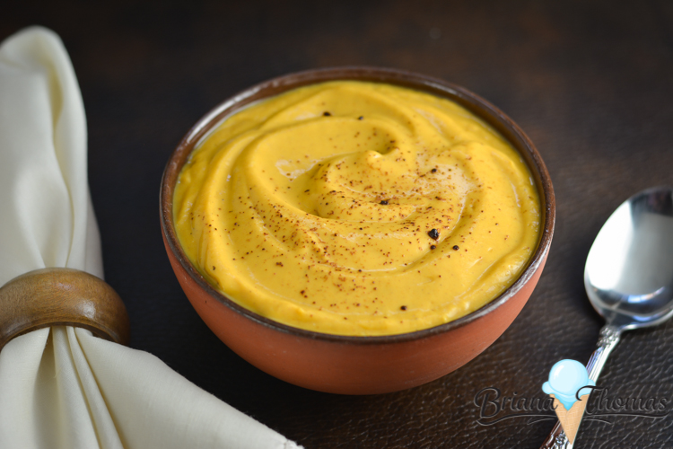 This Creamy Sweet Potato Bisque is a quick and healthy meal for one! No special ingredients needed. THM:E, low fat, gluten/egg/nut free
