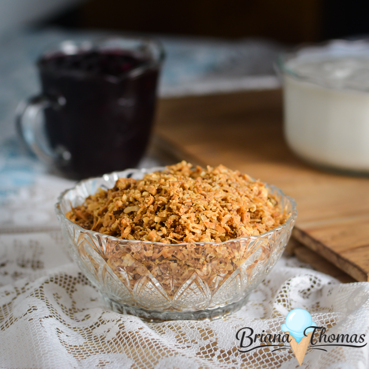 Click here to get THM-friendly recipes and ideas for vanilla yogurt, blueberry topping, and granola parfaits! THM:S (low carb), E (low fat), and FP options