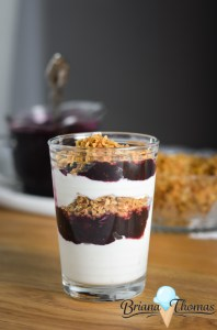 Vanilla Yogurt, Blueberry Topping, and Yogurt Parfaits a Myriad of Ways