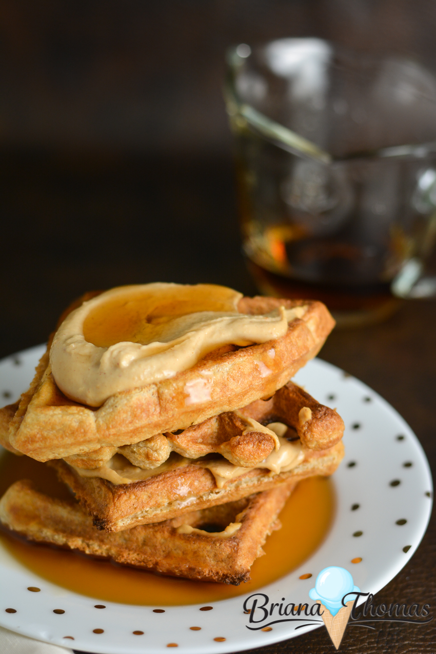 "The batter for these Cheater ""Sourdough"" Waffles is soured to make it easier on blood sugar, but you don't need a starter! THM:E, low fat, dairy/nut free"