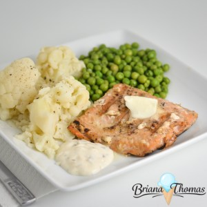 "Simple ""Brown Sugar"" Grilled Salmon"