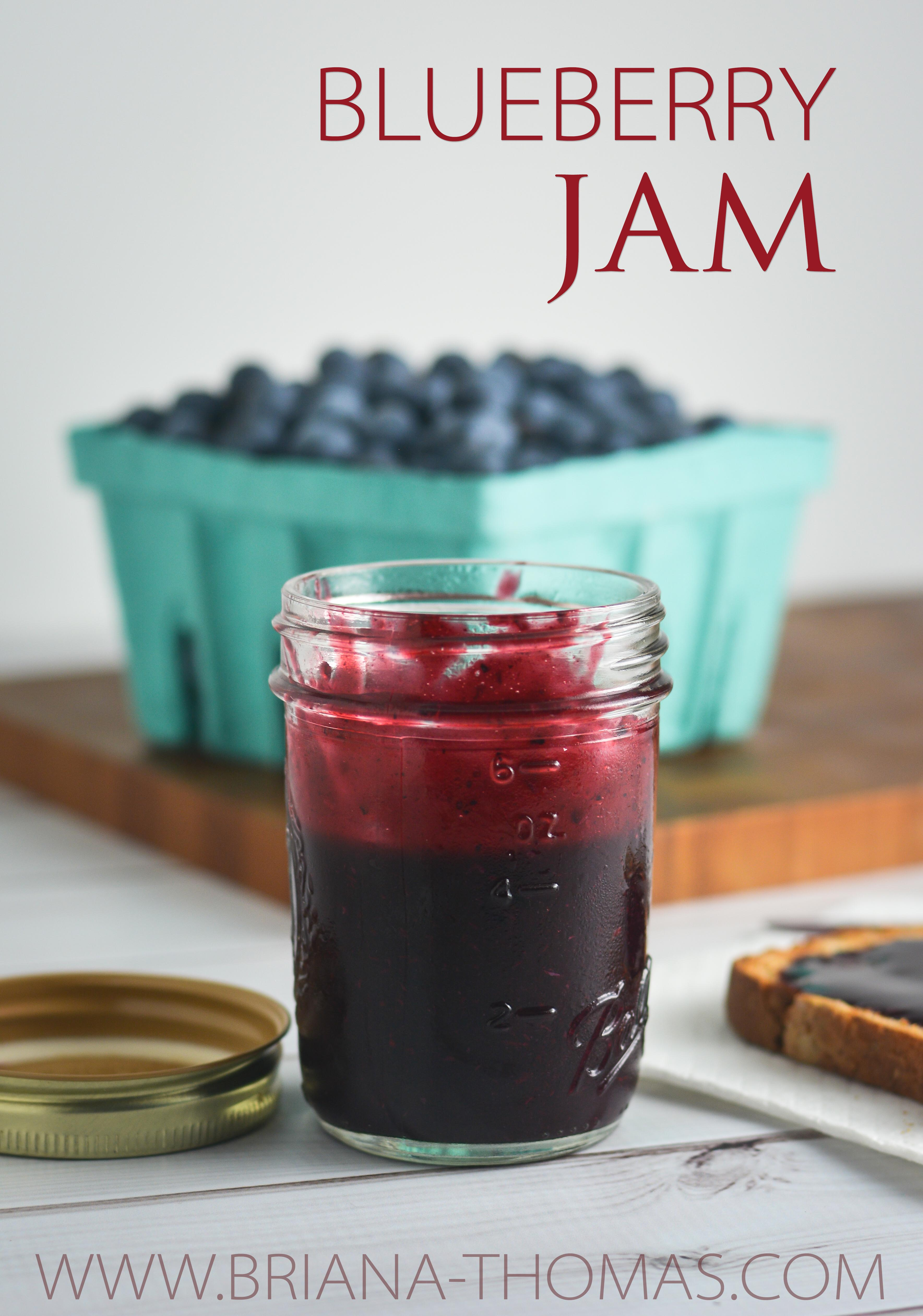 This Blueberry Jam is easy to make and keeps well in the freezer! THM: FP, low carb, low fat, no sugar added, gluten free, egg free, dairy free, nut free