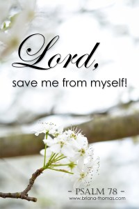 Save Me From Myself! {Psalm 78}