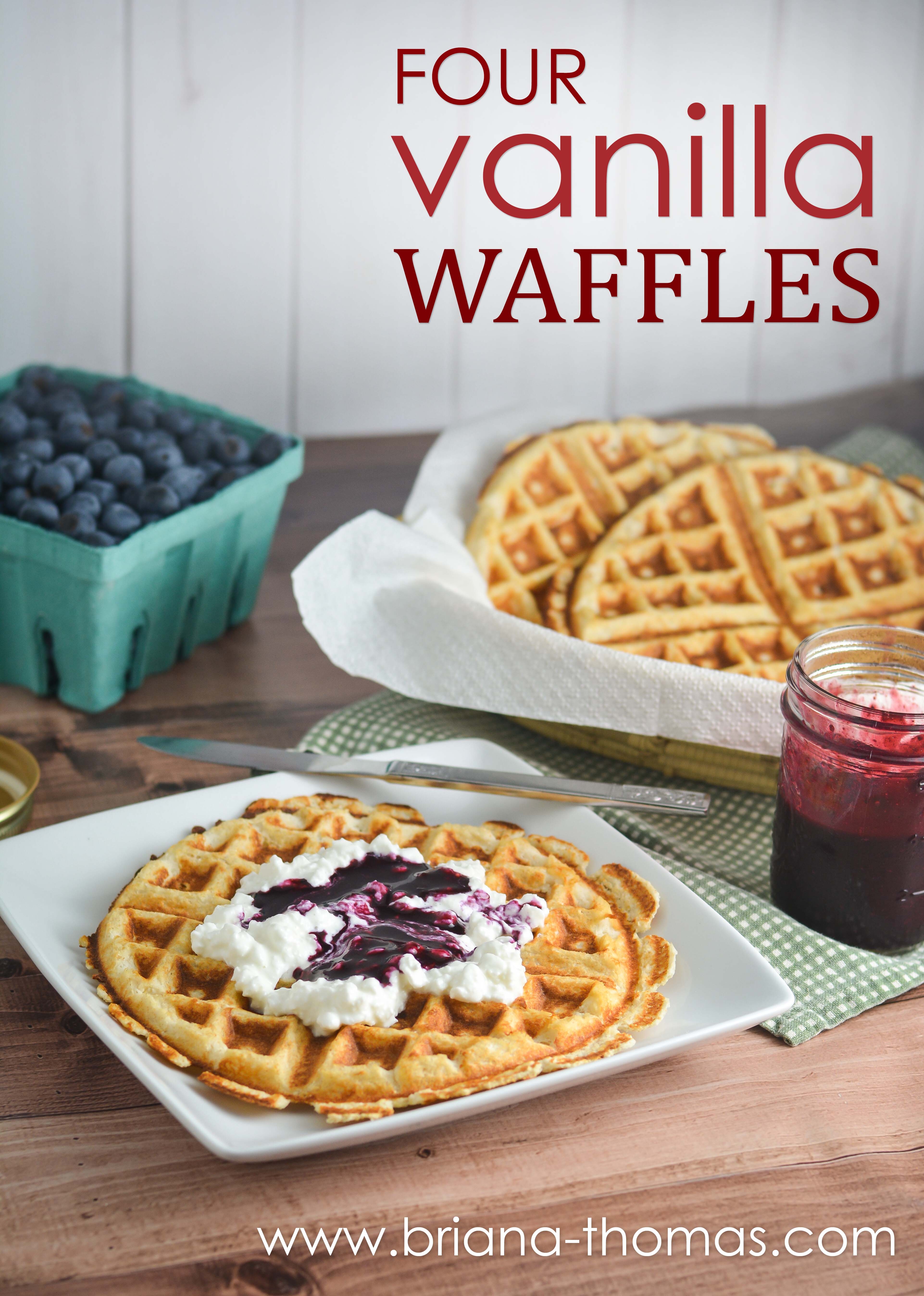 These Four Vanilla Waffles taste like Nilla Wafers and are my favorite low-carb waffle! THM:Fuel Pull, low fat, sugar free, gluten/nut free