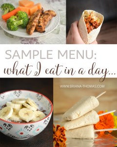 Sample Menu: What I Eat in a Day…Revised